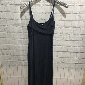 Long maxi! T shirt material blue wash medium